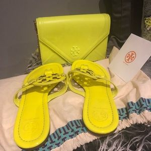 Exclusive Tory Burch sandals and purse